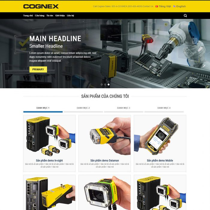 web sản phẩm điện cơ