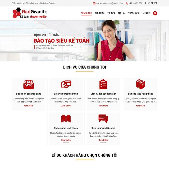 Thiết kế web Kế Toán