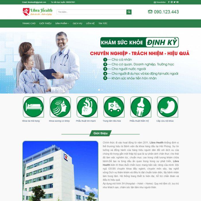 mẫu web khám sức khỏe