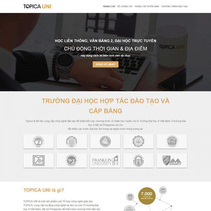 Mẫu web bán khóa học online