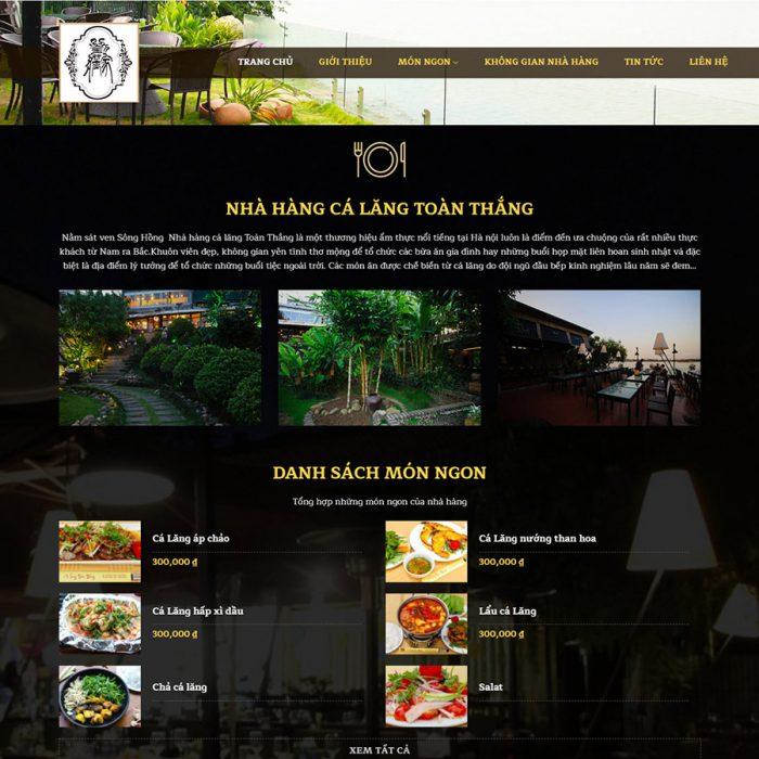 Mẫu web nhà hàng 02