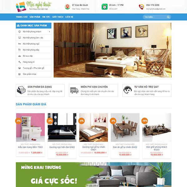 mẫu web bán nội thất