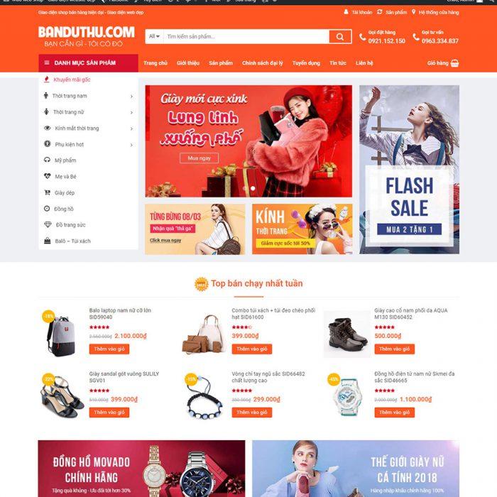 Mẫu landing page web bán hàng