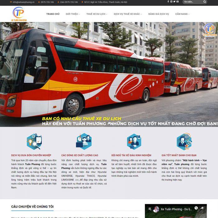 Mẫu trang web  dịch vụ cho thuê xe