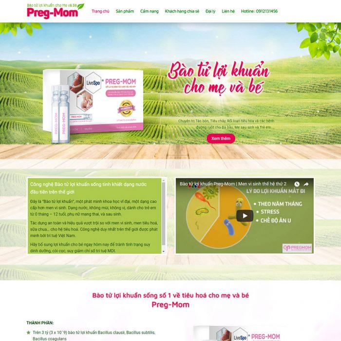 Landing page web bán thuốc