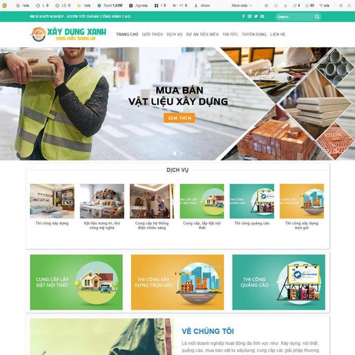 mẫu web xây dựng đẹp